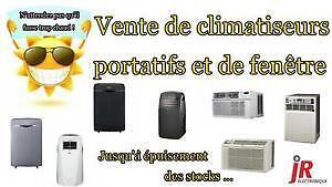 MÉGA VENTE D'ENTREPÔT D'AIR CLIMATISÉS PORTATIFS ET DE FENÊTRE