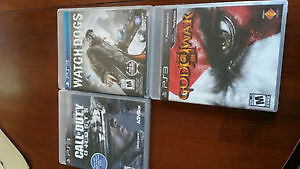 3 PLAYSTATION 3 games for $35