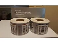 Royal Mail Special Delivery X500 Bar Code Track Number Label Roll Despatch Book