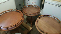 3 nice round side tables