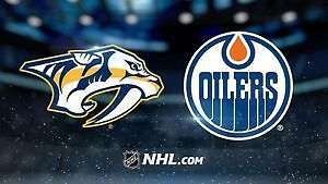 2 tickets Predators vs Oilers Tonight. >> Drink Rail Seats<<