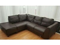 corner sofa brown leather by bristol airport