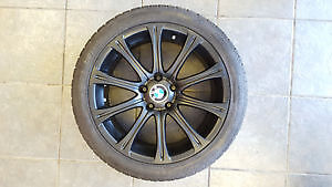WINTER RIMS AND TIRS 245/40/18 PIRELLI BMW OEM Kitchener / Waterloo Kitchener Area image 1