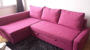Pink ikea sofa bed sectional