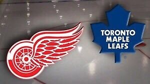 Detroit Red Wings vs Toronto Maple Leafs (3 Tickets)