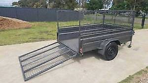 @HIRE@ 8x5 Box/Cage Trailer With Ramp $50/24hrs or $30/4hr