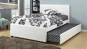 Platform Bed with Pullout Trundle (IF-124)