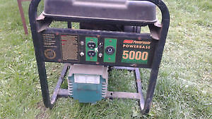 COLEMAN 10HP 5000W GENERATOR RUNS GREAT NEEDS SOME WIRING FIXED