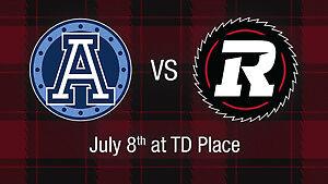 Toronto Argos @ Ottawa Redblacks - TD Place - July 8, 2017