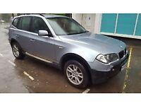 BMW X3, 54 REG, GOOD ENGINE AND GEARBOX, STARTS AND DRIVES, NEEDS MINOR ATTENTION, GOOD FOR EXPORT
