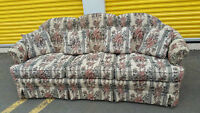 floral 3 seater couch delivery included