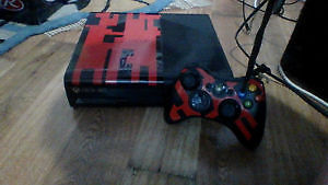 custom designed xbox 360 with games and accessories
