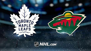 Toronto Maple Leafs vs Minnesota Wild! .....2 Nice Seats!