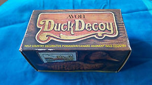Sealed vintage antique duck decoy Avon bottle with original parf