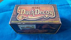 Sealed vintage antique duck decoy Avon bottle with original parf
