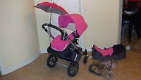 Pink Bugaboo Cameleon stroller - excellent condition