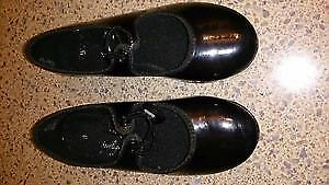 Toddler Girls Black Tap Shoes - Size 9.5