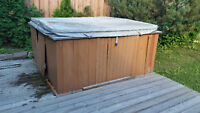 Hot tub removal and disposal.