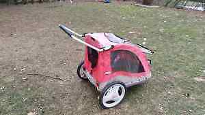 Double Jogging Bike Stroller, works great, stored inside
