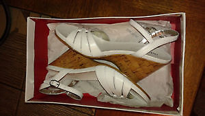 Brand New white leather Sandals