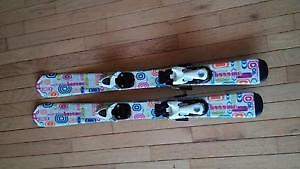 Like new - 90cm Techno Pro Sweety skis & bindings
