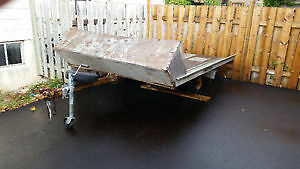 Older double snowmobile trailer for sale