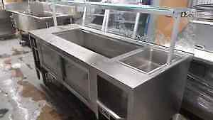 7 ft salad table with single steam well