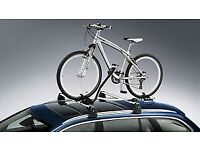 Car Roof Bars Single Bike Rack with Lock & key for security - NEW & BOXED