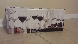 12 piece wine glass set - $10