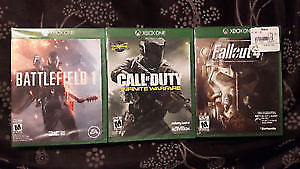 Brand new in package xbox one games..no trades
