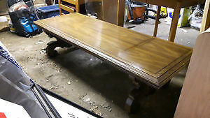 Solid wood coffee table - 5.4 ft long x 2 ft wide.