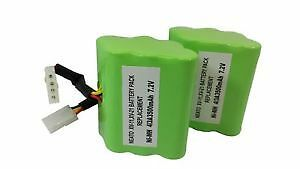 2 Pack High Capacity 7.2V 4500mAh Battery For Neato Robotics