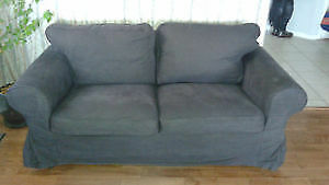 Ikea Ektorp Love Seat/Couch with Slip Cover