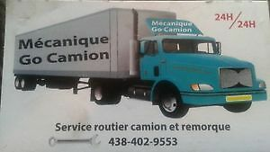 service routier camion et remorque