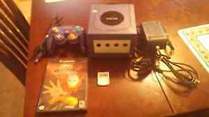 Purple Nintendo Game Cube With Memory Card And Game!