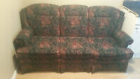 Matching sofa and chair for sale.