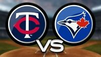 Toronto Blue Jays vs Minnesota Twins - September 14-18, 2017