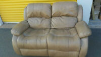 leather loveseat recliner delivery included