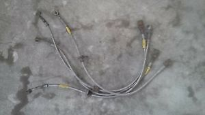 4 goodridge steel braided brake lines