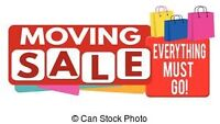 MOVING SALE! SATURDAY JULY 22nd