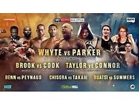 Dillon Whyte vs Joseph Parker 2 tickets