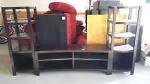 REDUCED! TABLE & CHAIRS, BOOKSHELF, TV UNIT & LAMPS FOR SALE