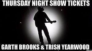 TOMORROW NITE ★★Garth Brooks & Trisha Yearwood ★★THUR FEB 23