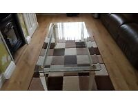 Glass top coffee table 4ft by 2ft 1 Italian design FREE Cambridge Delivery