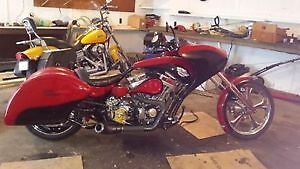 2013 Redneck Softail Pro Street Bagger custom builtone of a kind