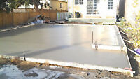CONCRETE WORK -  - PREP PLACE and FINISH