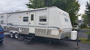 Looking for a camping trailer on a camping ground