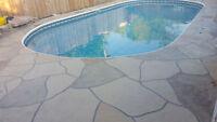 Concrete Maintenance- Jewel Stone Application and Sealing