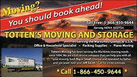 TOTTEN'S MOVERS 902-876-8364 Quickest service to Ontario and Que