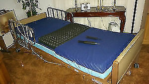 Hospital Bed With Side Rails - ROHO air mattress -Comes Complete